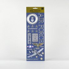Military Foil Embossed Stickers