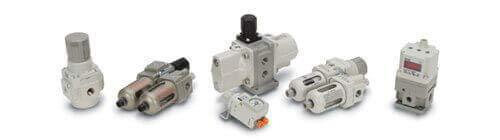 SMC AK1410TS 3P 44 2 ss line Regulator - 3 Ports,