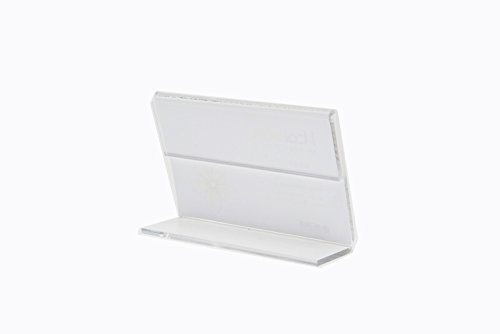 10pack of Clear Acrylic Slanted Sign Holders Price Tag Advertisement Display Stand Holder (6*9cm)