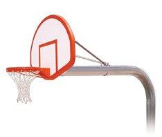 最初チームBruteフライトsteel-fiberglass in ground固定高さバスケットボールsystem44 ;コロンビアブルー B01HC0DID6