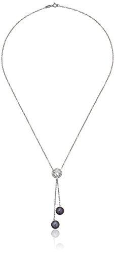 Platinum Plated Sterling Swarovski Zirconia Tahitian