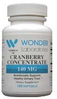 140 Formule Cranberry Prise en charge nutritionnellement santé des voies urinaires - 100 Capsules # 1401