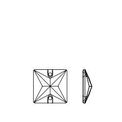 Clear Crystal (001) Swarovski 3240 Square 22mm Crystal Sew On Stones by Swarovski