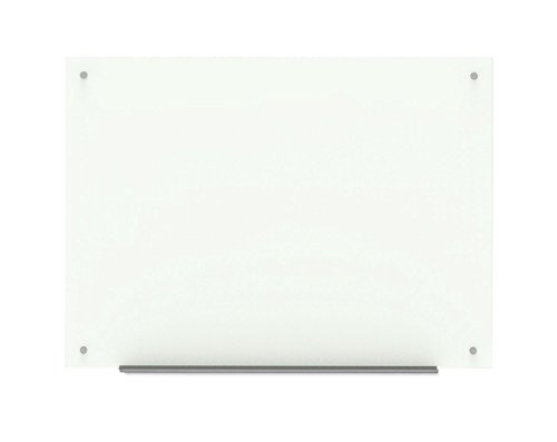 Wall Mounted Glass Board with Marker Tray, Dry Erase Marker, Eraser and Two Magnets (40