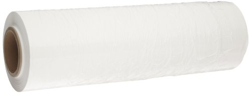 (Goodwrappers PVTW1880 Linear Low Density Polyethylene White Opaque Cast Hand Stretch Wrap On a 3