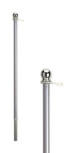 NEW 1in X 5ft Aluminum Flag Pole With Anti-Wrap Sleeve + - Canada Sunglasses D&g