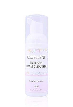 21ded1208b6 Excellent Eyelash Foam Cleanser For Eyelash Extension 40ml: Amazon ...