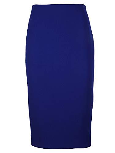 Victoria Beckham Femme SKPEN3053BCOBALT Bleu Actate Jupe