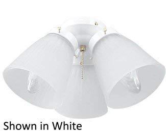 Ellington Glass Lighting - Craftmade ECK758BB 3-Light Kit 180 Total Watts, Bright Brass