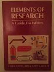 Elements of research: A guide for writers