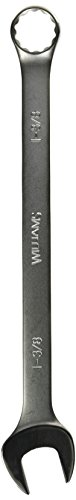 Williams 11144 12 Point Combination Wrench, 1-3/8-Inch, Satin Chrome Finish