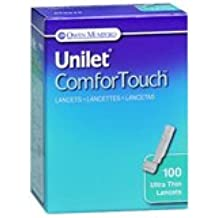 Unilet ComforTouch Ultra Thin Lancets 28G - 100 per box