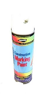 Aervoe 255 12 Pk 17Oz Fluorescent White Construction Marking Paint