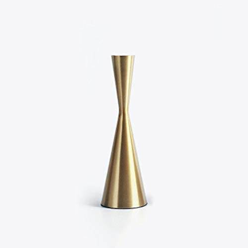 LONEA Candle Holders with Brass Gold Metal Taper Candle Holder Vintage Modern Home Cabin Lodge Table Mantel Wedding Centerpiece Candle Table Decorations for Dining Room