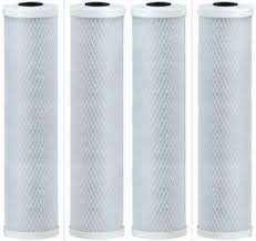 4 Pack of 5 Micron Carbon Filters Compatible to Watts 500315 Counter-Top Drinking Water Filter by CFS