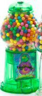 Transparent Antique Gumball Machine - GREEN Green Gumball Machine
