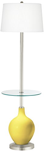 Lemon Twist Ovo Tray Table Floor Lamp (Twist Transitional Lamp Floor)