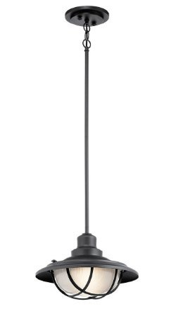 Lighting 49695BKT Harvest Ridge 1 Light 13 inch Textured Black Outdoor Hanging Pendant - Harvest 1 Light Pendant