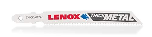 LENOX Tools 1991595 T-Shank Power Arc Thick Metal Cutting Jig Saw Blade, 3 5/8