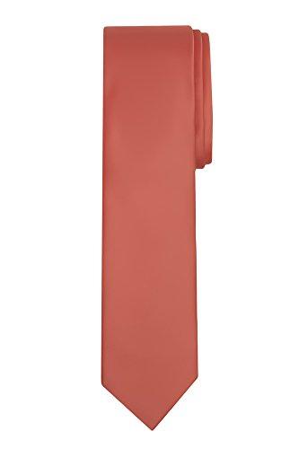Jacob Alexander Boy's Regular Self Tie Prep Solid Color Necktie - Coral ()