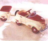 1940 Custom Roadster with Trailer Hallmark Kiddie Car Classics QHG7106