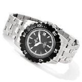 Croton CA301183BKBK Mens Automatic All Stainless Steel Unidirectional Bezel Stainless Steel Watch