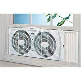 Best Window Fans - Holmes Dual Blade Twin Window Fan, White. Holmes Review