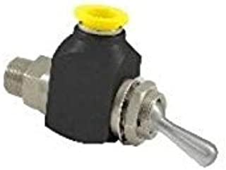 "product image for Clippard GTV-2Q-P12 2-Way Toggle Valve, 1/4"" NPT, 3/8"" Push-Quick Fitting, 38 SCFM at 50 PSIG, 67 SCFM at 100 PSIG"