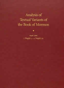 Download Analysis of Textual Variants of the Book of Mormon - Part Five - Alma 56 - 3 Nephi 18 ebook