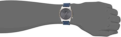 Lacoste Men's Motion Stainless Steel Quartz Watch with Leather Calfskin Strap, Blue, 20 (Model: 2010989) 2