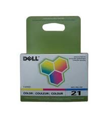 Genuine OEM brand name Dell Series 21 V313/V715 Clr Ink 3305274 (170 Yield) Y499D
