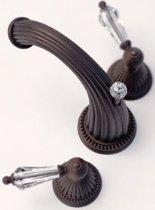 (Santec 1120LC49 Monarch Oil Rubbed Bronze Widespread Lavatory W/ Lc Swarovski Crystal Handles (Includes 1/2