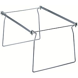 Brackets Hanging File (Smead Steel Hanging File Folder Frame, Letter Size, Gray, 2 per Pack (64870))
