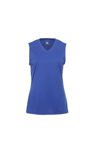 (Badger Sportswear Women's B-Dry Sleeveless Performance Tee, Royal, Medium)