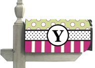 - Baskerville Peppy Monogram Y Magnetic Mailbox Cover