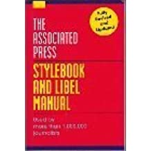 Associated press stylebook and libel manual by norm goldstein.