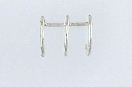 Sterling Silver Triple Ring Ear Cuff from D&J