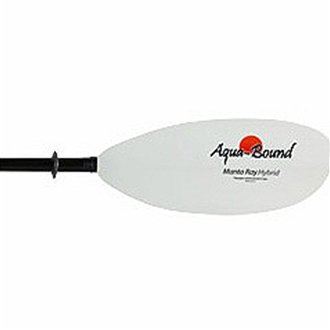 AquaBound Manta Ray Hybrid 2-Piece Posi-Lok Kayak Paddle - 250cm/White