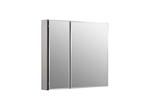 KOHLER K-CB-CLC3026FS Frameless Double Door 30 inch x 26 inch Aluminum Bathroom - One Two Mirrors Sink Bathroom Small Double Or