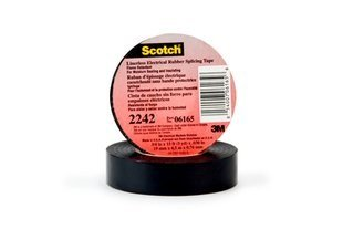 3M(TM) Linerless Electrical Rubber Tape 2242, 2 in x 15 ft (51 mm x 4,6 m) Plymouth Electrical Tape