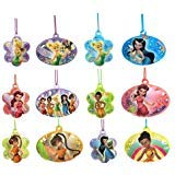 Disney Tinkerbell and Fairies Plastic Necklaces - 12ct -
