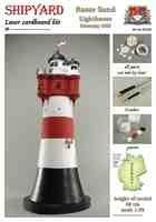 Leuchtturm Roter Sand Laser Kartonbausatz