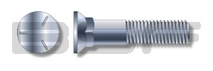 5//8-11X1 1//2 Grade 5 Plow Bolt with Number 3 Head Zinc