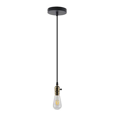 B2ocled Pendant Light Cord, 3.28 ft Rope Pendant Lighting Industrial Edison Mini Pendant Metal Hanging Lamp with Ceiling (Pendant Light Plate)