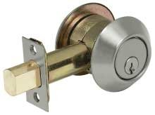 US26D Heavy Duty Commercial Grade Single Cylinder Deadbolt 2 3//4 Backset 626 Satin Chromium Plated No Coating