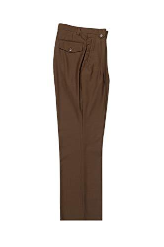 Tiglio Tobacco Wide Leg, Pure Wool Dress Pants Luxe