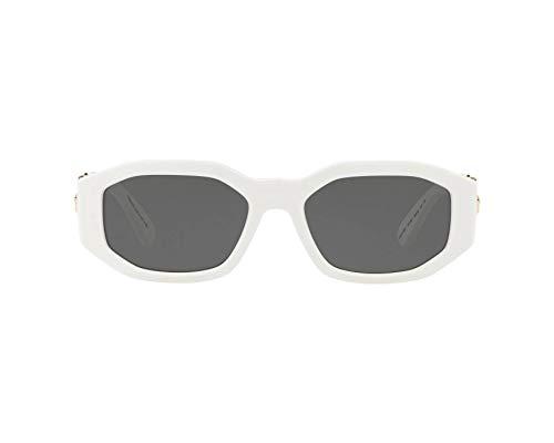 (Versace Unisex VE4361 White/Grey One Size)
