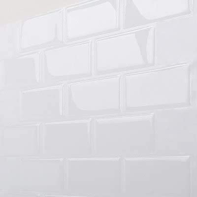 MORCART 10 St/ück Fliesenaufkleber Selbstklebende Fliesendekor Aufkleber Backstein Mosaik Wallpaper 3D Aufkleber K/üchenschr/änke Badezimmer Kamin Bodentreppe Abnehmbar Wasserdicht f/ür K/üche und Bad