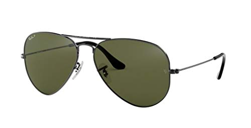 Ray-Ban RB3025 Aviator Polarized Sunglasses 004/58 RB 3025 58mm (Ray Ban G 15 Lens)