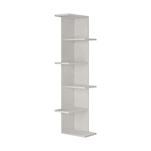 MIK Wood Bookcase - Corner Bookcase - White